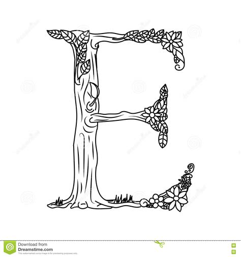 coloring pages for adults letter e letter e coloring book for adults vector stock vector