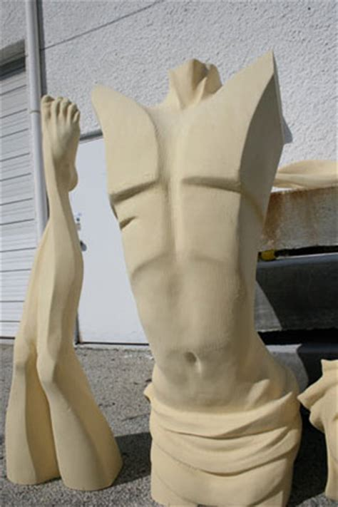 Rubber Sculpture Block sculpture enlargement foam or clay 171 south florida