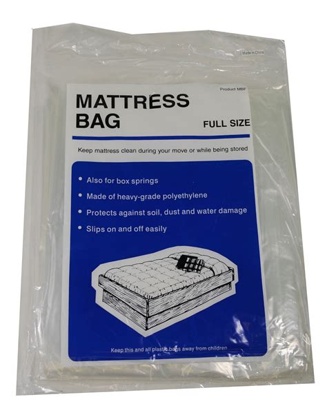 Mattress Plastic Bag by Lot Of 4 Mattress Bag Size Protect During Move