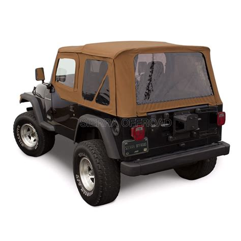 jeep wrangler top sierra offroad jeep wrangler tj soft top 97 02 in spice