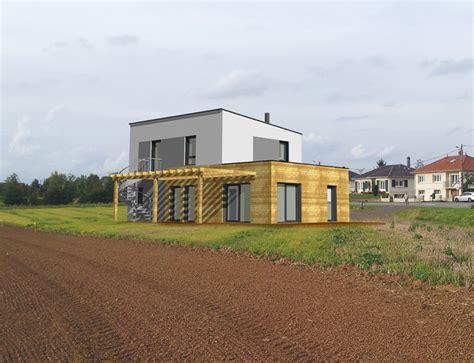 Maison Moderne Cubique by Maison Cubique 224 Toit Plat Et Ossature Bois Nos Projets
