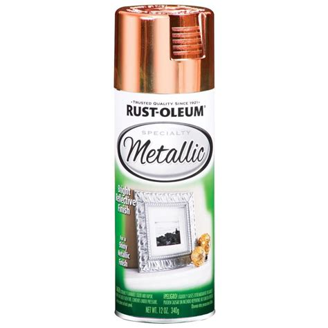 shop rust oleum 11 oz metallic copper spray paint at lowes