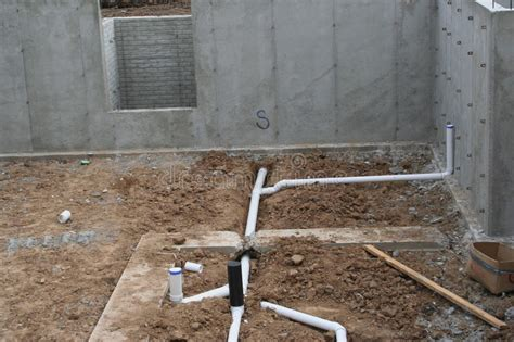 basement bathroom rough plumbing rough in basement plumbing 2 stock photo image of