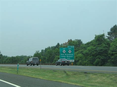 Exit 105 Garden State Parkway by New Jersey Aaroads Garden State Parkway Wall Township To Woodbridge