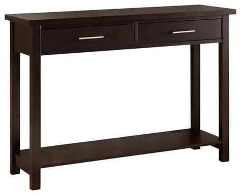 espresso sofa table espresso console tables target thesofa