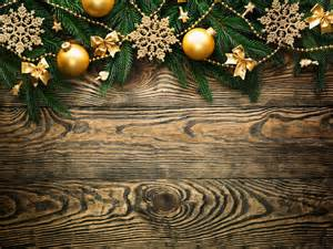 Wood Christmas Tree Ornaments - wooden christmas background with gold ornaments gallery