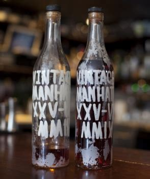 manhattan drink bottle bottle aged manhattan starchefs com