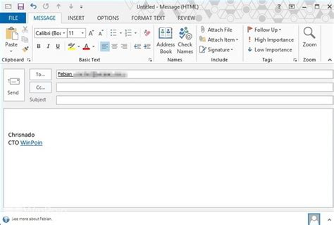 cara membuat email baru outlook cara membuat signature di outlook 2013 winpoin