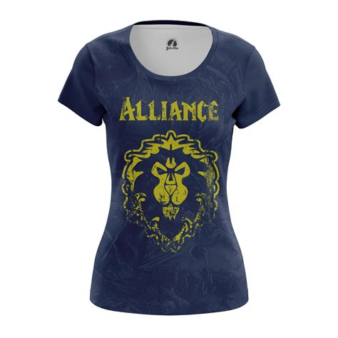 Hoodie Warcraft For The Alliance Fightmerch womens t shirt alliance warcraft wow alliance idolstore