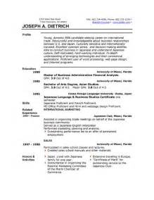 Resume Samples Using Microsoft Word by Sample Resume Format Resume Template Microsoft Word