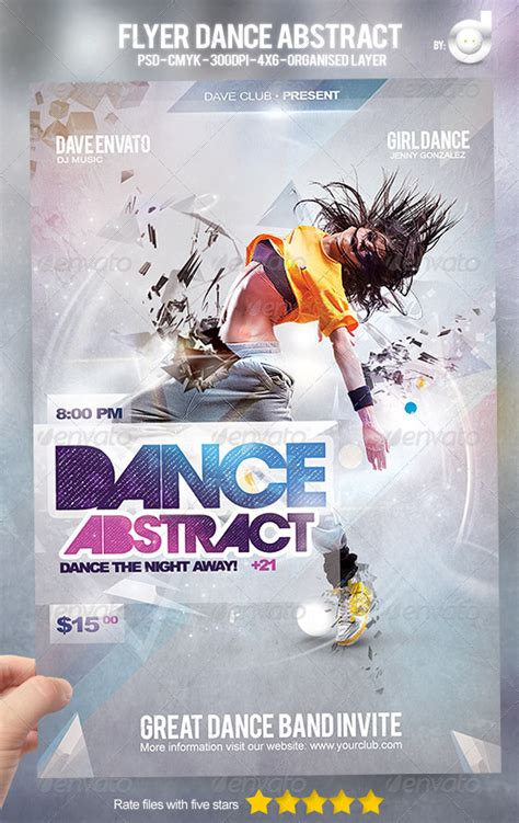 template flyer girl dance flyer dance abstract graphicriver