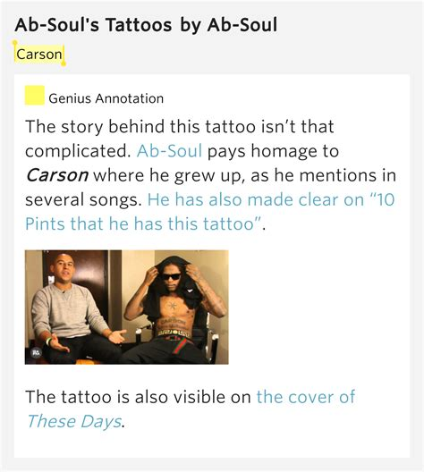 ab soul tattoos carson ab soul s tattoos by ab soul