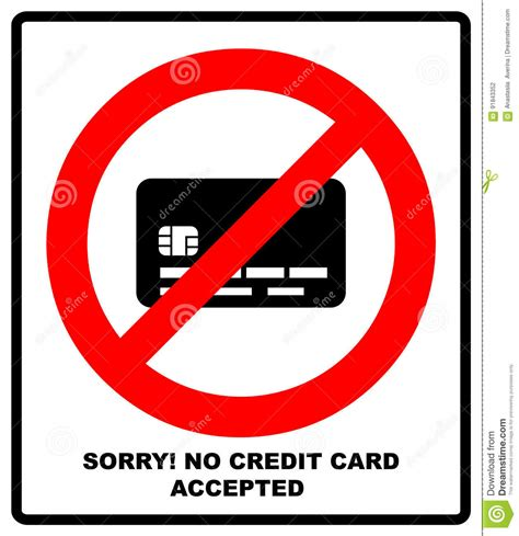 how to make money no credit card no credit card payment prohibition sign stop