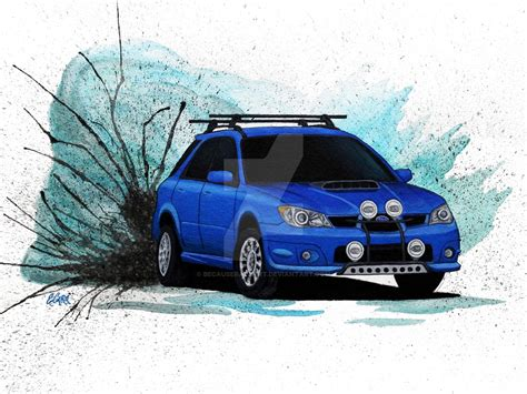 rally subaru wagon subaru wrx wagon rally car by becauseraceart on deviantart