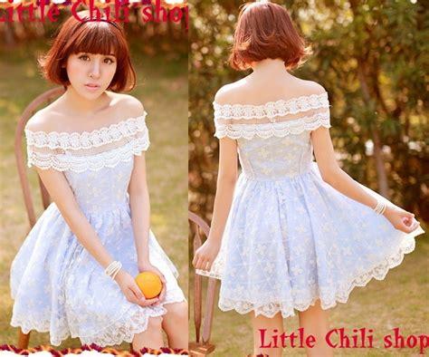 30618 Pink Sweet Offshoulder Dress kawaii princess sweet dolly lace cape sleeve shoulder dress blue ebay