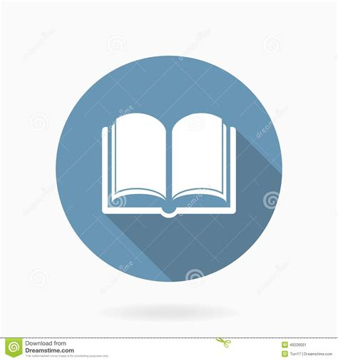 libro round to ours setting vector book icon with flat design blue and white stock vector image 49226001