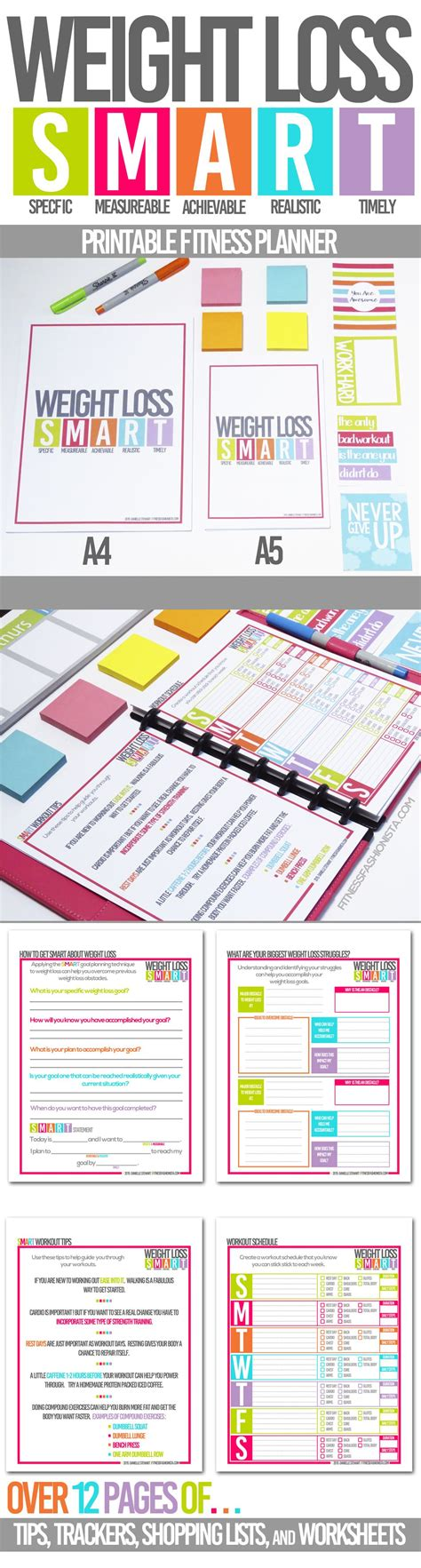 printable meal planner to lose weight smart weight loss printable fitness planner to help keep