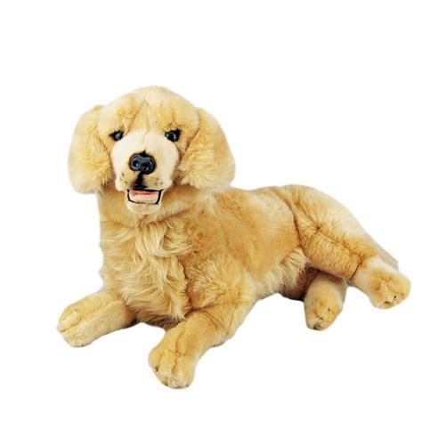 golden retriever stuffed golden retriever 20 quot stuffed soft plush lucky 19 quot 47cm new ebay
