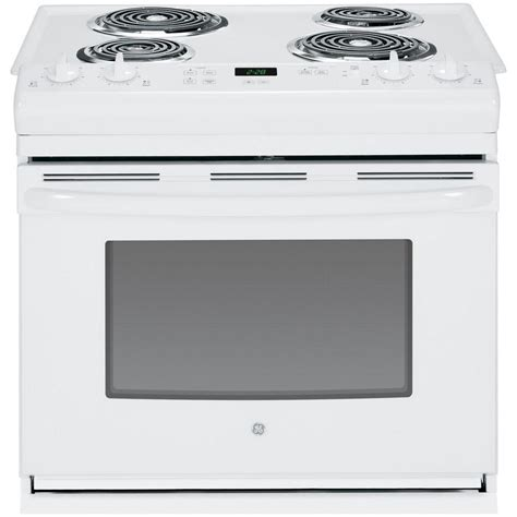 30 drop in ge 30 in 4 4 cu ft drop in electric range in white