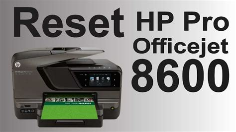 resetting hp officejet pro 8600 plus max dicas