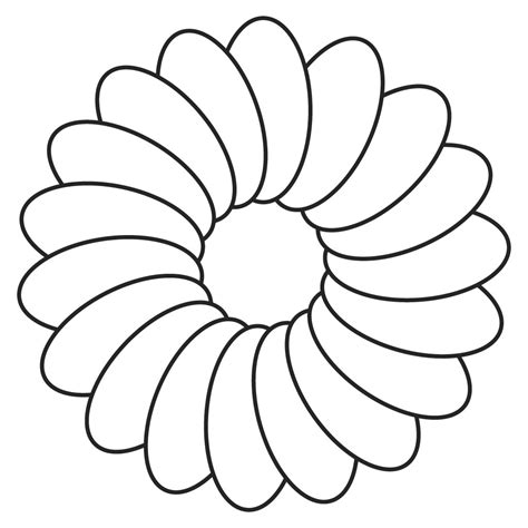 flower colouring template flower cut out templates clipart best