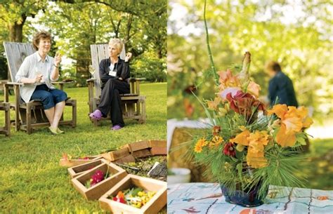 Floral arranging commune with one another and get a creative nudge on