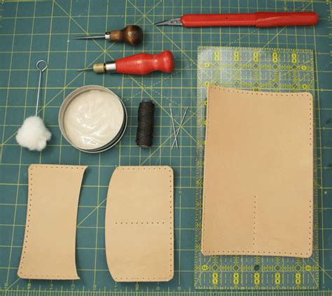How Do You Make A Wallet Out Of Paper - how to make your own leather passport holder poppytalk