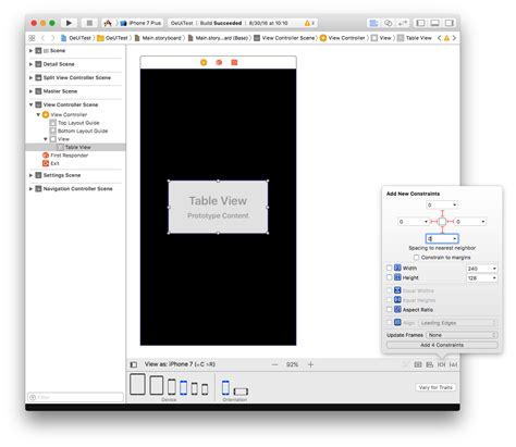 xcode xib layout objective c xcode xib black border right and bottom of