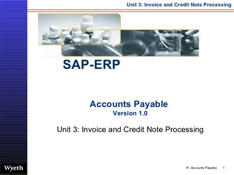 Sap Tutorial For Accounts Payable | sap invoice credit note processing http sapdocs info
