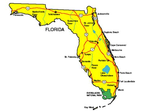 state of florida map florida facts symbols tourist attractions