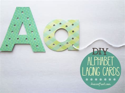 diy alphabet lacing cards help your child learn to