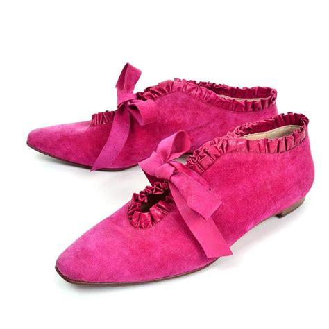 manolo blahnik pink suede strappy sandals manolo blahnik pink suede ruffled lace up vintage