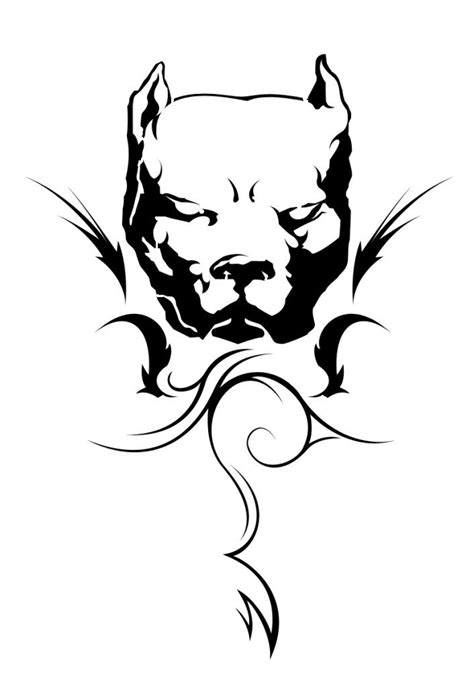 tribal pitbull tattoos tribal pitbull coloring pages