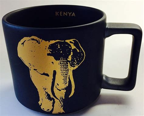 Starbucks Kenya Elephant Mug Black 2016   14 Fl Oz (011063631)   Coffee mugs, Dr. oz and