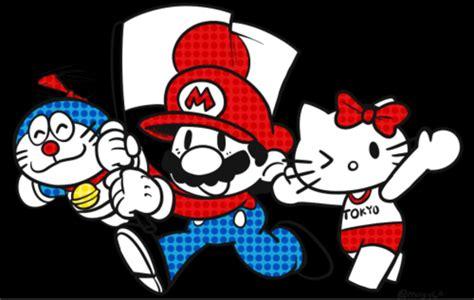 Iring Doraemon Hello Shinchan Mario Bross mario hello and doraemon 2016 summer olympics