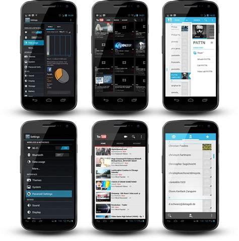 iphone layout on android paranoid android para seleccionar modo tablet en las