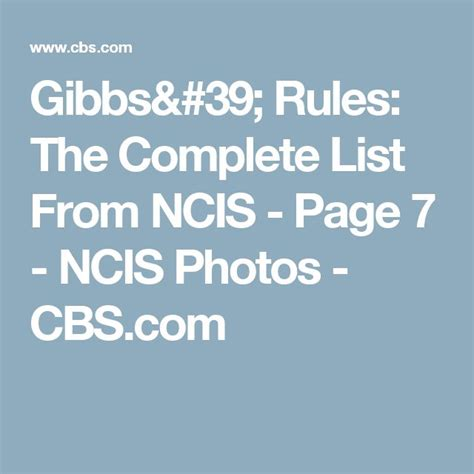 Gibbs Rules The Complete List From Ncis Page 2 Ncis | the 25 best gibbs rules list ideas on pinterest gibbs