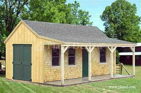 building cottage shed  porch plans material