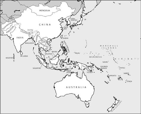 printable maps asia blank map southeast asia and australia blank outline map