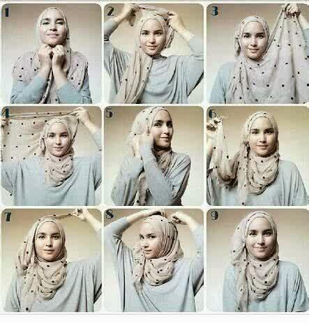 Jilbab Segiempat Bulu Hati cara berhijab pashmina sifon yang simple tapi modis cara