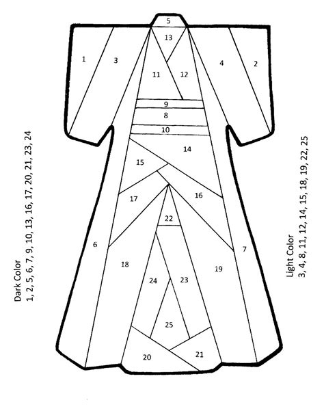Paper Folding Templates For - the born doodler iris folding kimono pattern