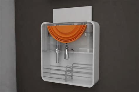 pixel cool bathroom furnishing  small space design swan