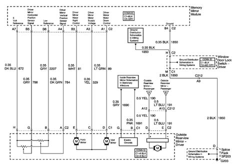 chevy power mirror wiring diagram get free image about