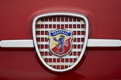 1959 fiat abarth 750 zagato coupe emblem photograph by