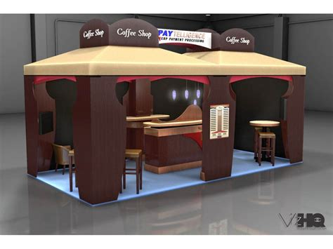 Booth Coffee reg wilson multimedia developer tradeshow booth design