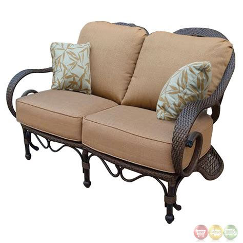 grand bonaire 7 weather resistant wicker patio furniture set