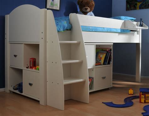 Stompa Beds Mid Sleeper by Stompa Rondo 4 Mid Sleeper Cabin Bed With Storage Cupboards
