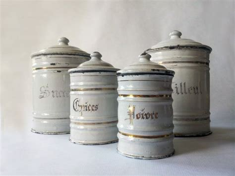 1930 s french kitchen white canisters set of 3 french 1930 s french kitchen canisters set white and gold
