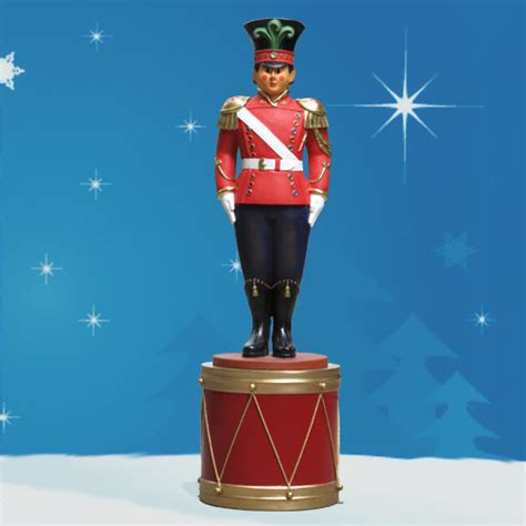 yab designs fiberglass toy soldier on drum 8 tall
