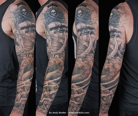 pirate sleeve tattoo designs 40 pirate tattoos on sleeve